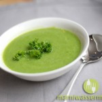 Bright Green Soup with Garnish