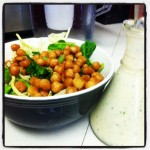 Wasabi Roasted Chickpea Salad