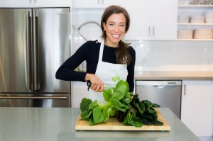 Marni Wasserman at her food studio posing for a staff photo