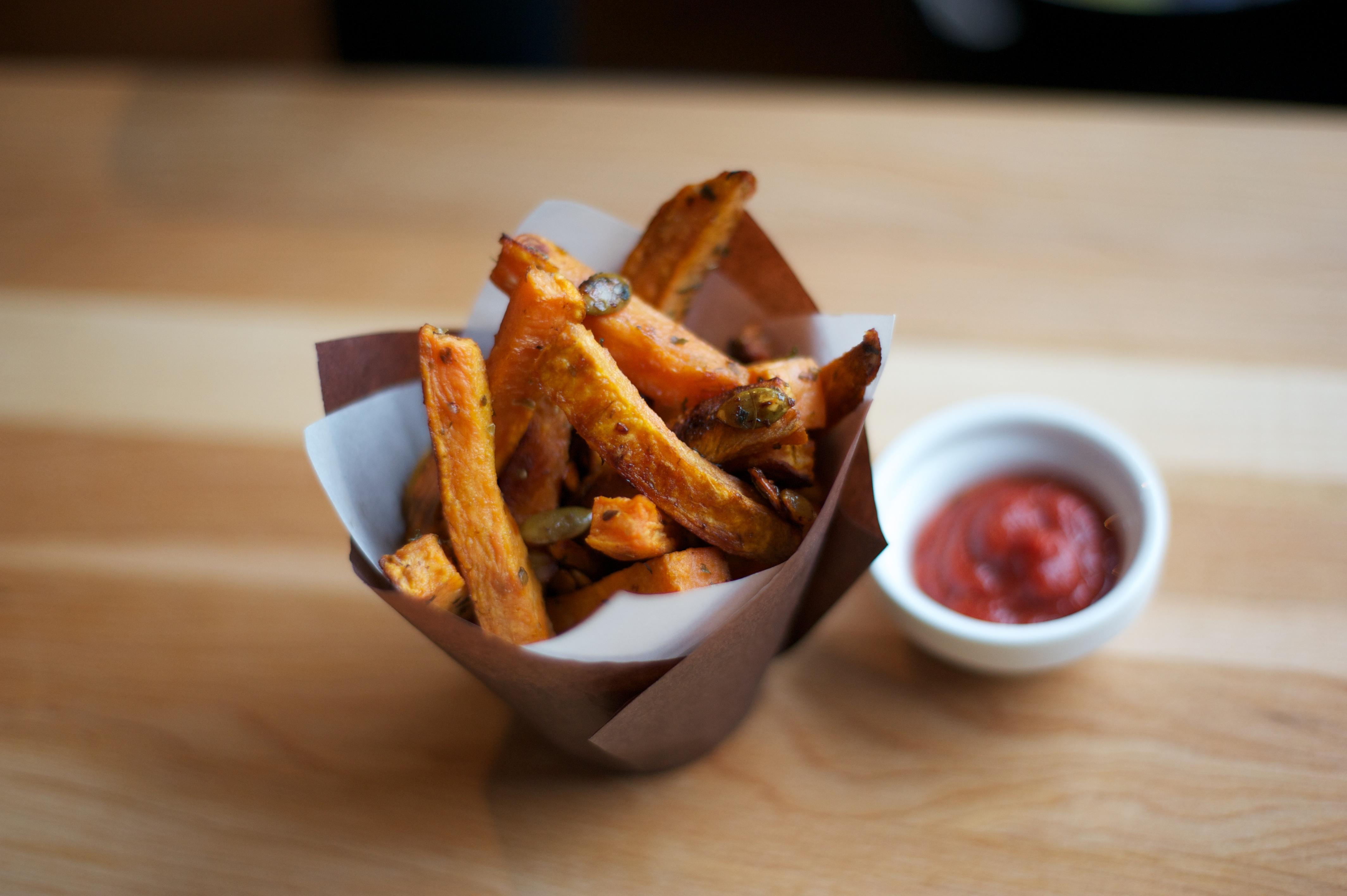 Garlic Oregano Yam Fries 8
